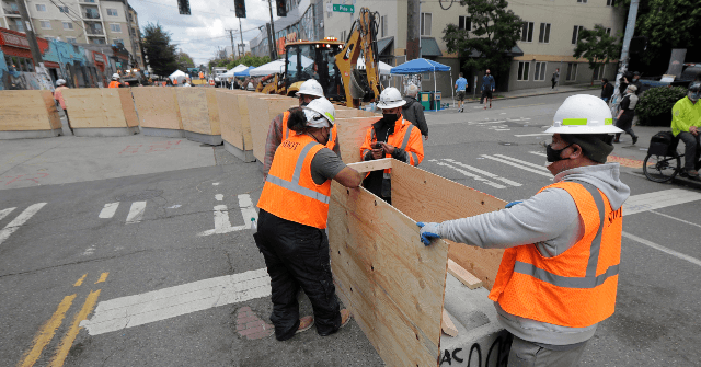 Seattle Officials Add Concrete Barriers to CHAZ Protest Zone